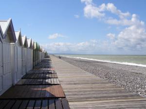 Chemin de planche de Cayeux sur mer